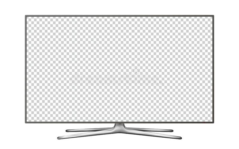 Realistic TV screen. Smart TV mockup. Blank television template. Vector stock photos
