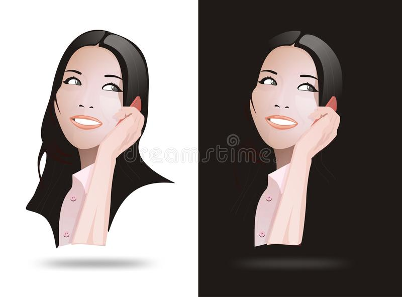 Download Realistic Vector Asia Women Stock Illustration - Image: 31682119