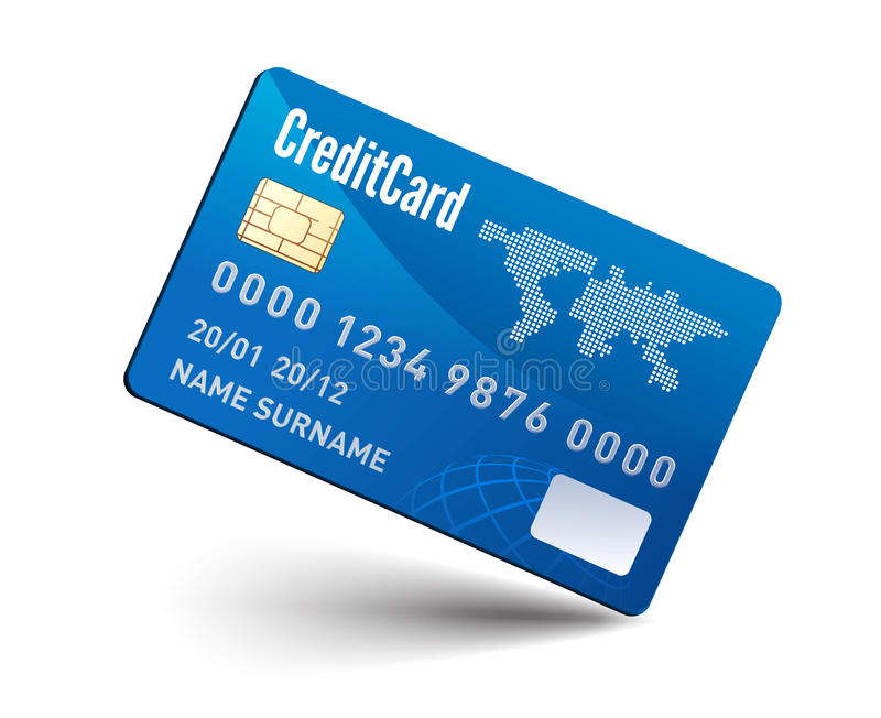 Realistic vector Credit Card royalty free illustration