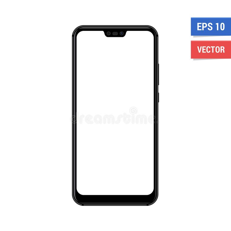 Realistic vector flat mock-up Huawei P20 Lite with blank white screen. Scale image any resolution stock image
