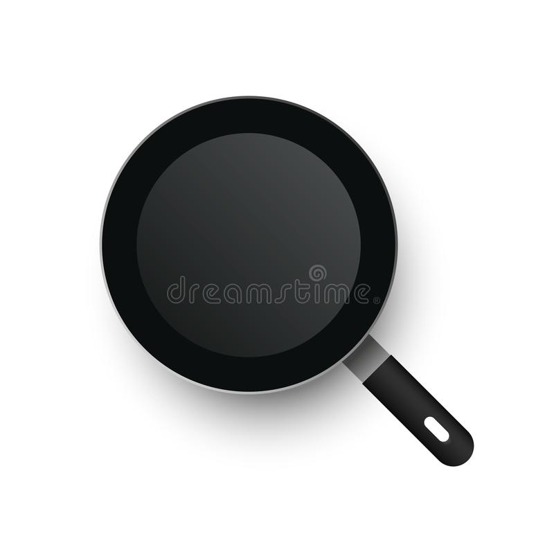 A realistic vector frying pan. View from above.  stock illustration