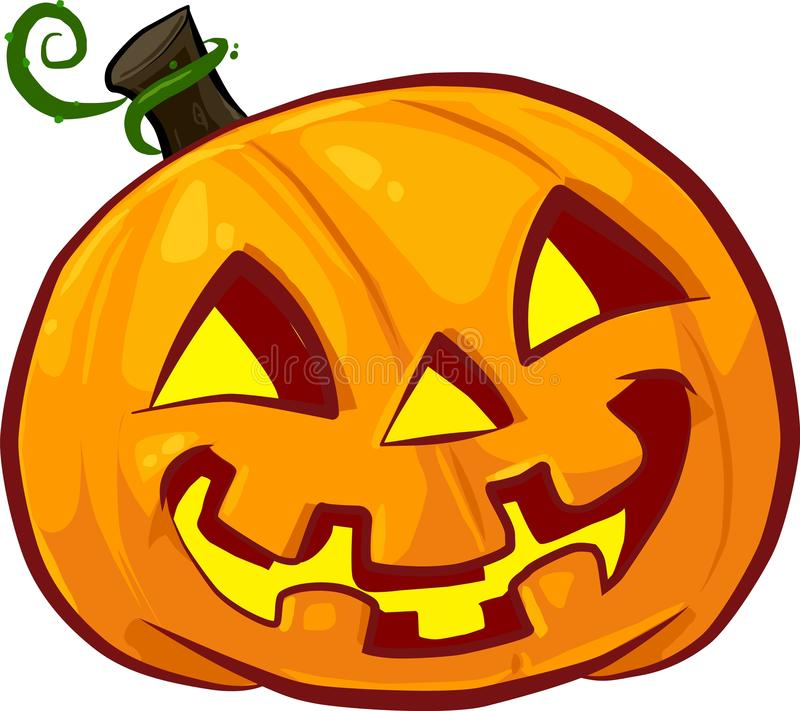 Vector Halloween pumpkin. Happy Halloween pumpkin face isolated on white background. royalty free stock photo