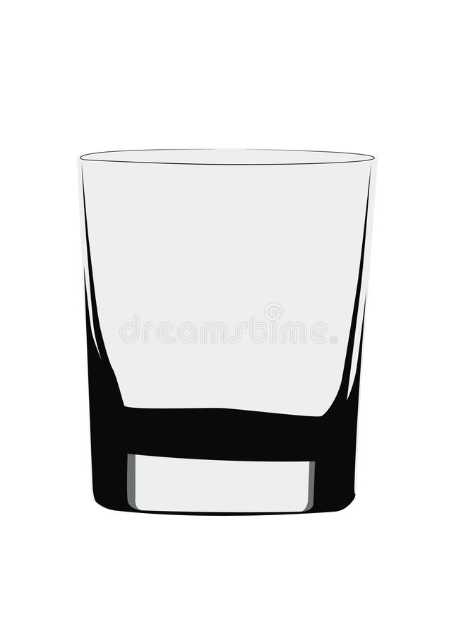 Old Fashioned glass realistic vector illustration isolated. Realistic vector illustration isolated Old Fashioned glass stock illustration