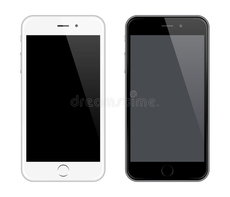 Realistic Vector Mobile Phone Mockup like Iphone Design Style vector illustration