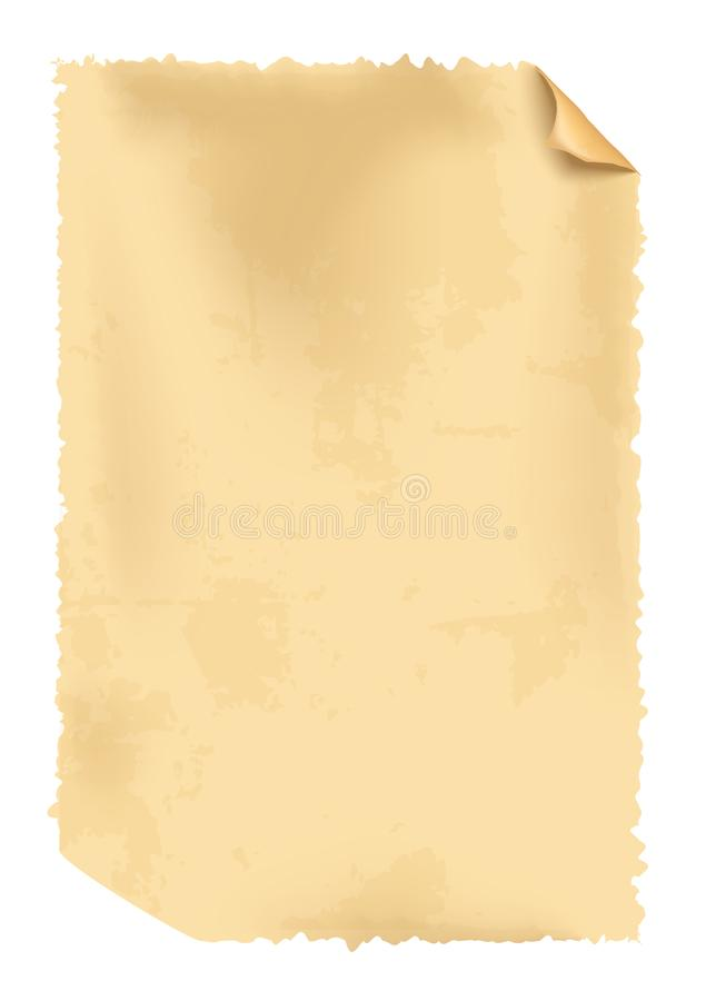 Realistic vector old paper stock illustration