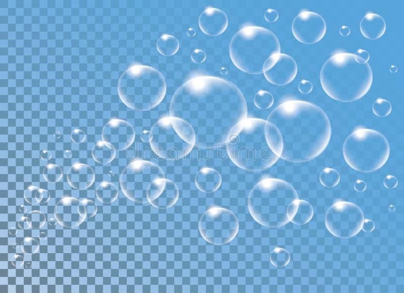 Download Realistic Vector  Soap Bubbles Vor Decoration Stock Vector - Image: 83714899