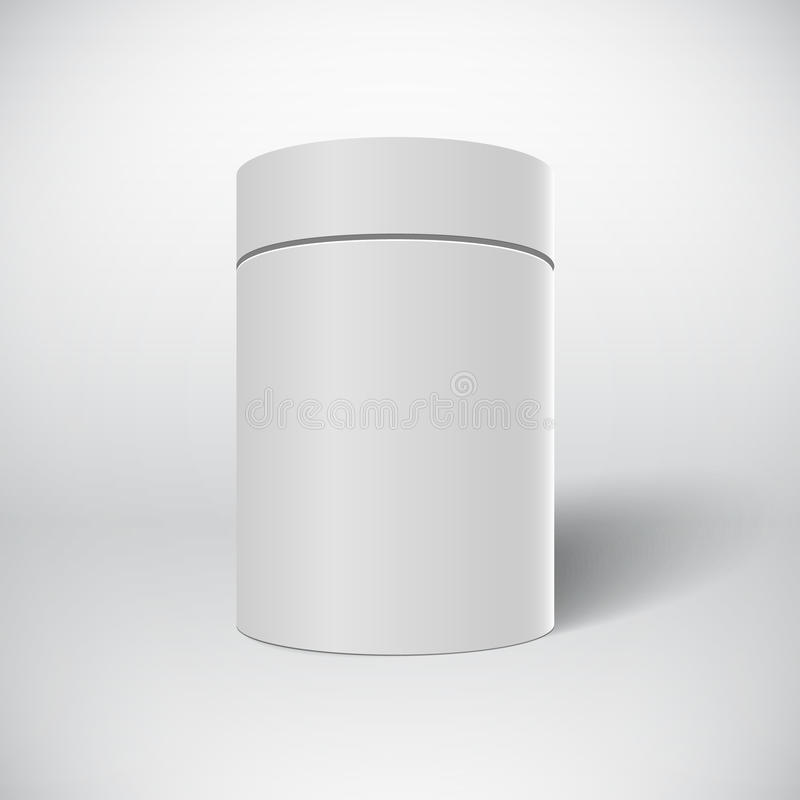 Realistic Vector White Tin Can Template on White Backgr royalty free illustration