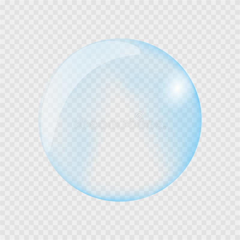 Realistic water drop. Pure, clean water drops. Water Rain. Gray background. Vector illustration stock illustration
