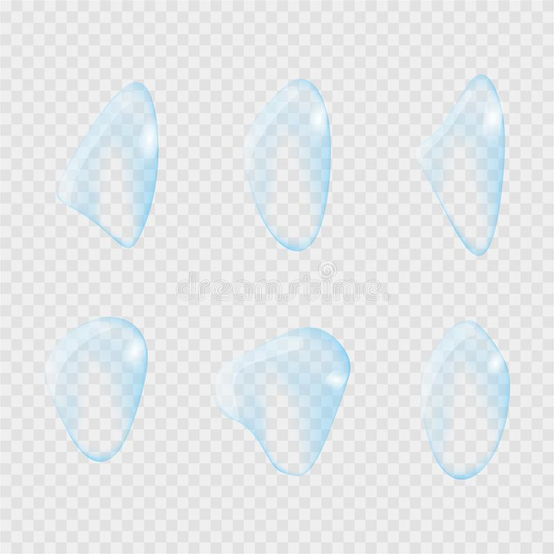 Realistic water drop. Pure, clean water drops. Water Rain. Gray background. Vector illustration. Realistic water drop. Pure, clean water drops. Water Rain. Gray vector illustration