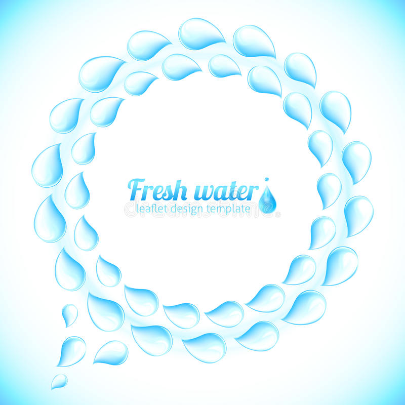 Realistic water drops vector speech bubble royalty free illustration