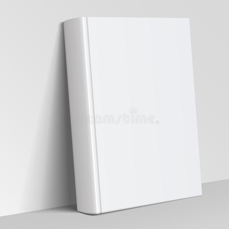 Realistic white Blank book cover vector illustration