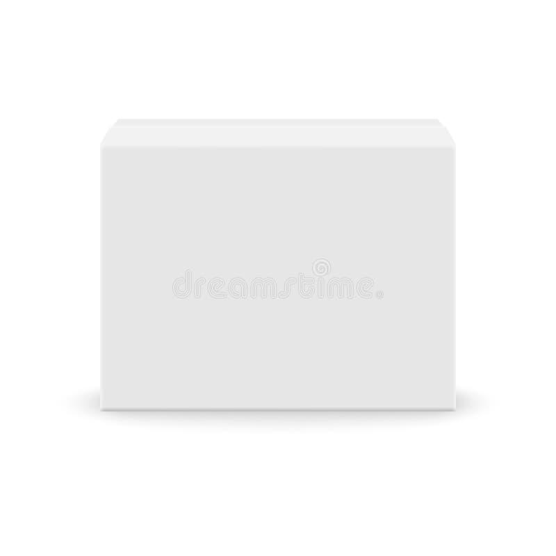 White blank box. Realistic white blank box for design on white background. Vector illustration vector illustration
