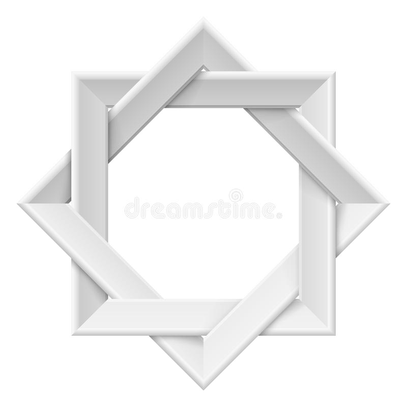 Download Realistic white frame stock vector. Image of fake, painting - 25063010