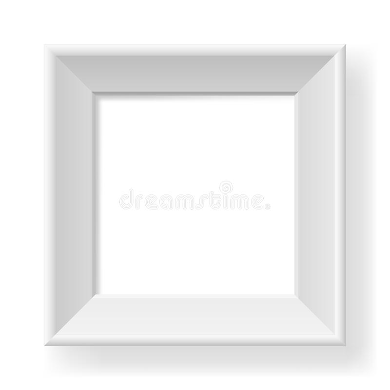 Download Realistic white frame stock vector. Image of decorative - 25064273