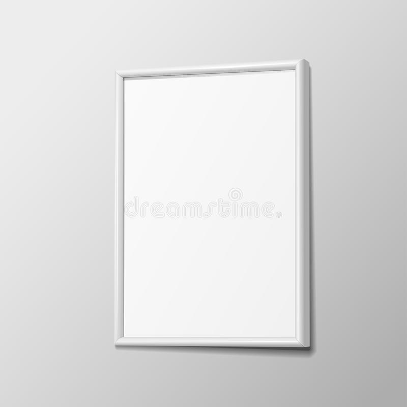Realistic White Horizontal Frame For Paintings Stock Vector ...