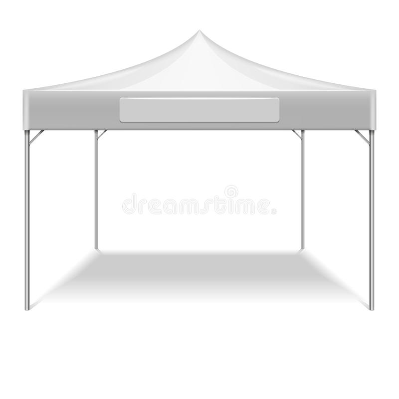 Download Realistic White Outdoor Folding Party Tent Vector Mockup Stock Vector - Illustration of banner  sc 1 st  Dreamstime.com : white outdoor canopy tent - memphite.com
