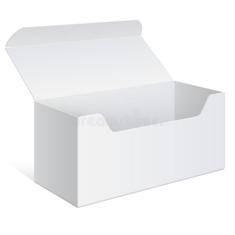 Download Realistic White Package Box. For Software, Device Stock Vector - Illustration: 32309769