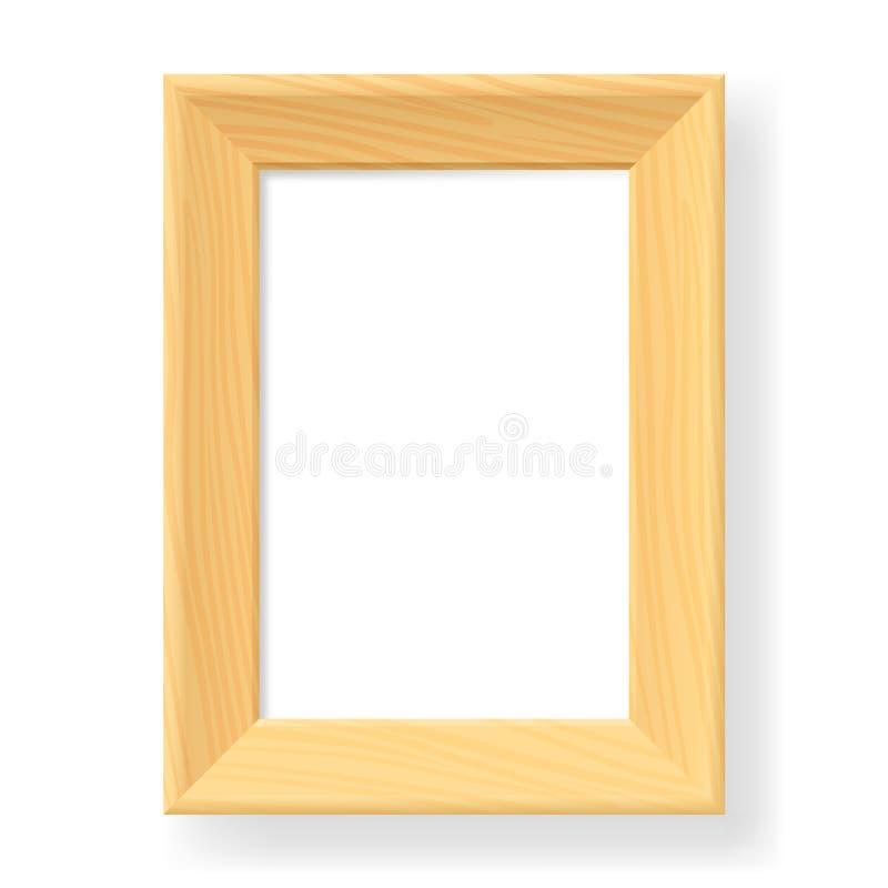 Download Realistic wooden frame stock vector. Illustration of border - 25151828