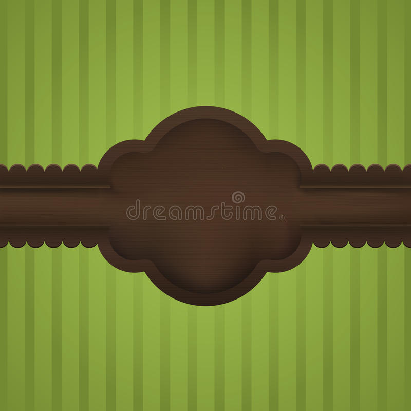 Realistic Wooden Vintage Frame With Copyspace Stock Images
