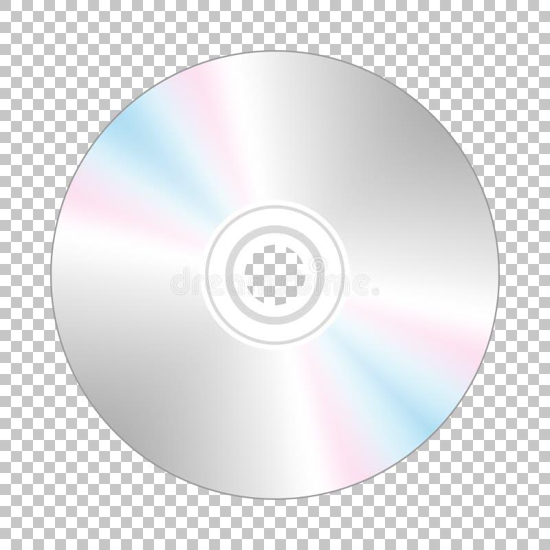 Realistisch CD-schijf achtereind stock illustratie