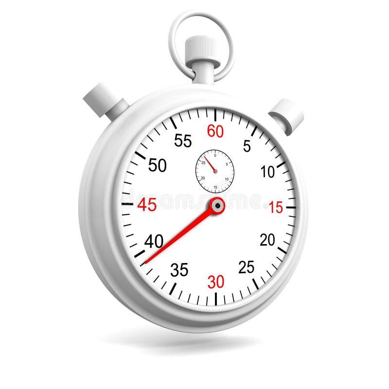 Realistisch chronometer of chronometerhorloge op witte achtergrond vector illustratie