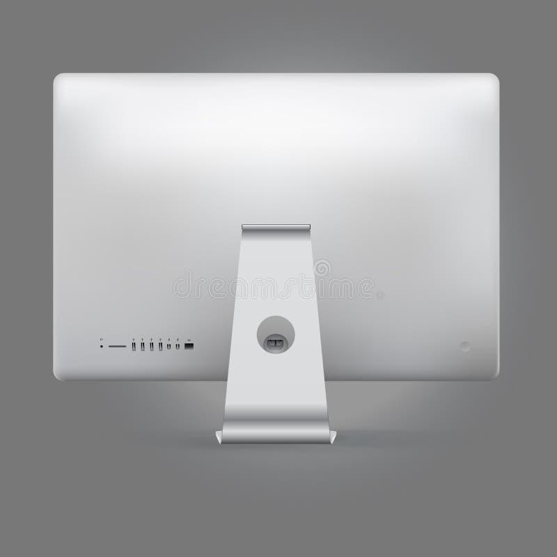 Realistisch de computerachtereind van het apparatenmodel vector illustratie