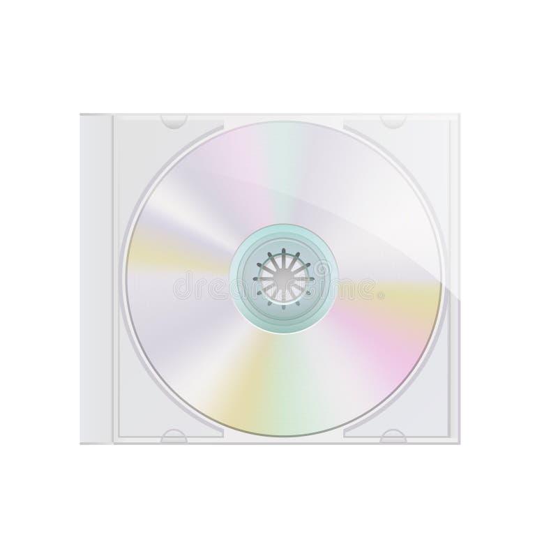 Realistisch DVD-schijf en doosmalplaatje voor uw ontwerp, vector royalty-vrije illustratie