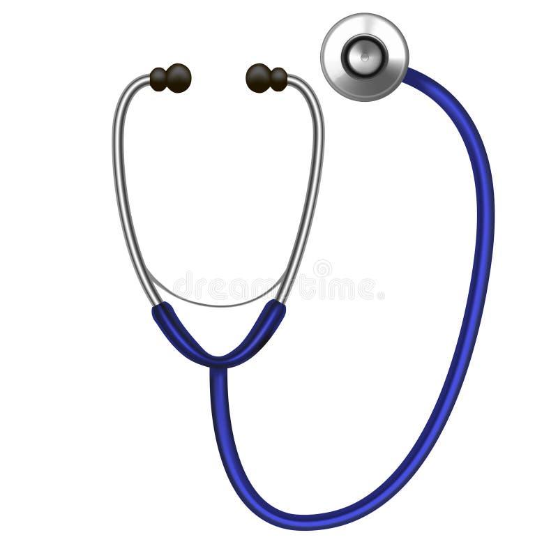Realistisch Gedetailleerd Stethoscoop Kenmerkend Professioneel Instrument Vector vector illustratie