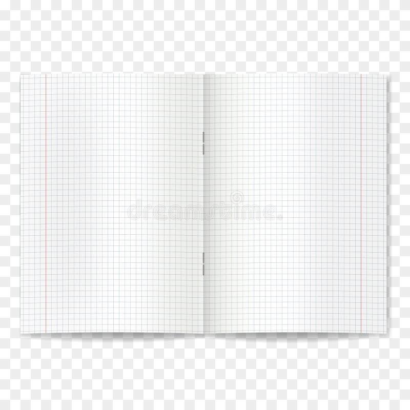 Realistisch geopend vierling beslist schoolvoorbeeldenboek stock illustratie