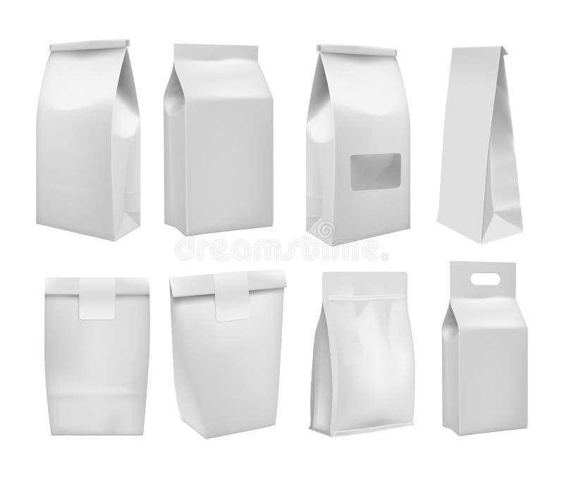 Realistisch haal de spot van de voedseldoos omhoog weg plaatsen royalty-vrije stock afbeeldingen