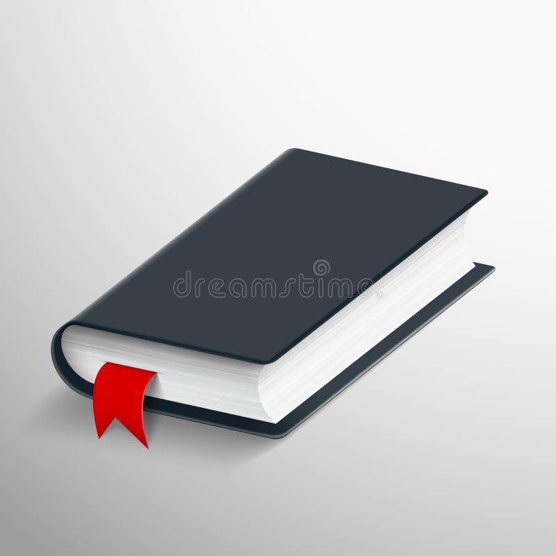 Realistisch leeg boek met een referentie royalty-vrije illustratie