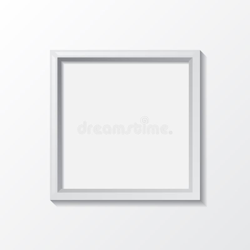 Realistisch leeg kader op lichte achtergrond, grens voor uw creatief project, vectorontwerpvoorwerp stock illustratie