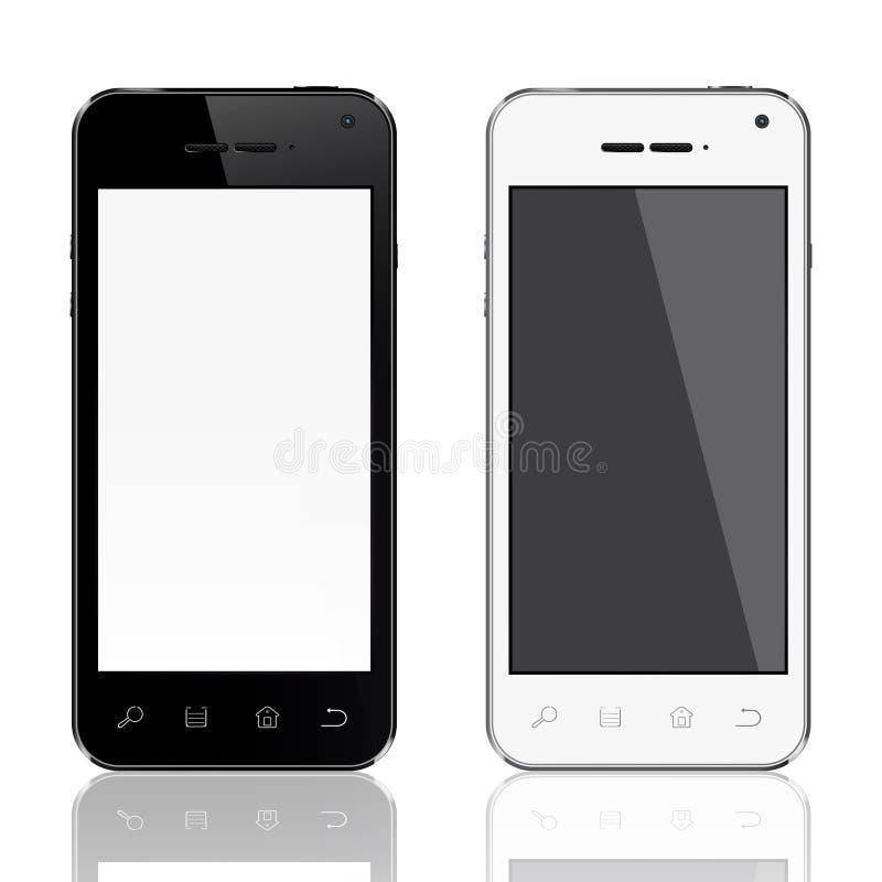 Realistisch mobiel telefoonmalplaatje vector illustratie