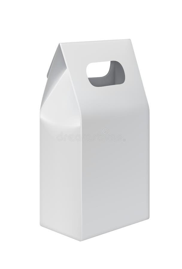 Realistisch nehmen Sie Papiertüte mit Kopienraum weg stock abbildung