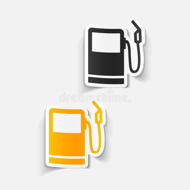 Realistisch ontwerpelement: benzinestation stock illustratie