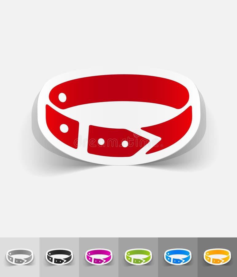 Realistisch ontwerpelement halsband royalty-vrije illustratie