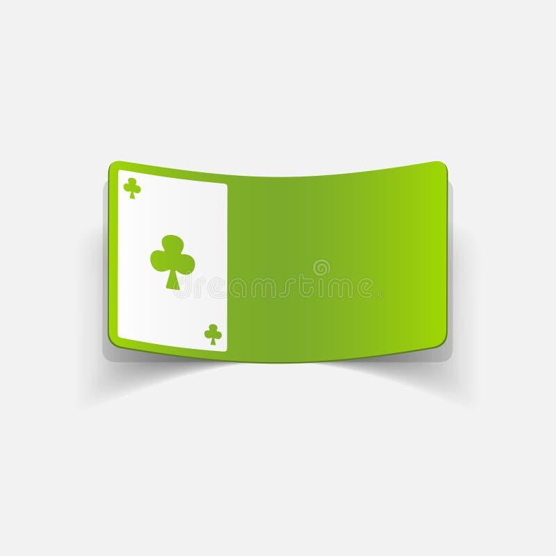 Realistisch ontwerpelement Speelkaart stock illustratie