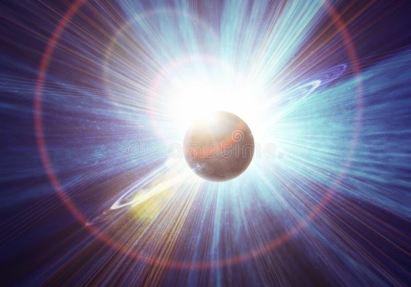 Realistisch Saturnus royalty-vrije illustratie