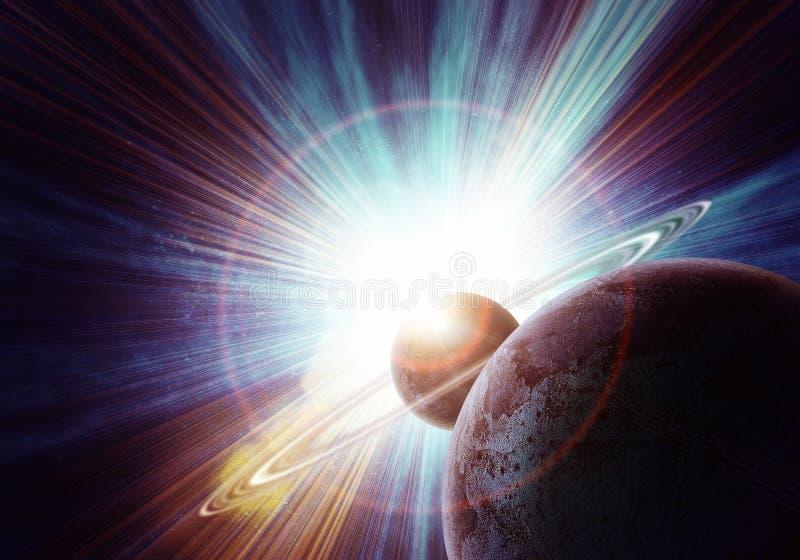 Realistisch Saturnus vector illustratie