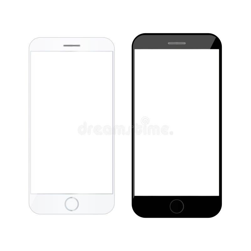Realistisch smartphone Modern mobiel model royalty-vrije illustratie