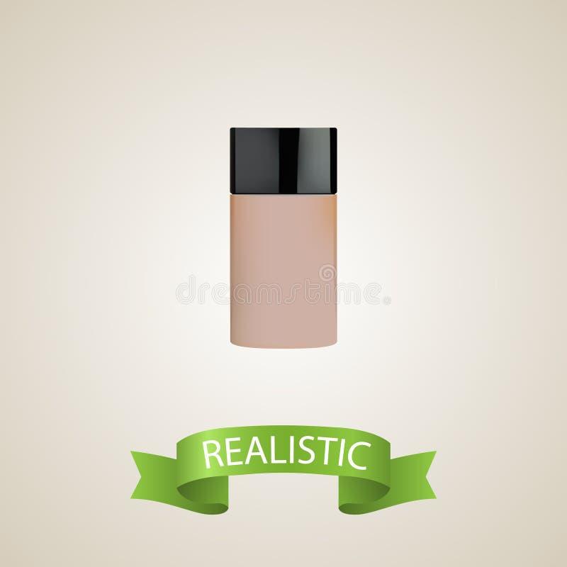 Realistisch Stichtingselement Vectorillustratie van Realistische Camouflagestift op Schone Achtergrond Kan worden gebruikt zoals vector illustratie