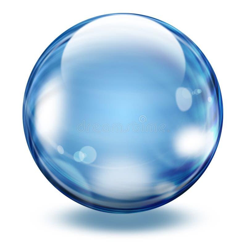 Realistisch transparant glasgebied vector illustratie