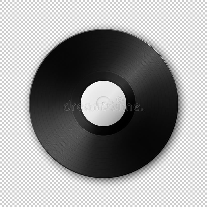 Realistisch vector het verslagpictogram van LP van de muziekgrammofoon vinyl Ontwerpmalplaatje van retro L.P. vector illustratie