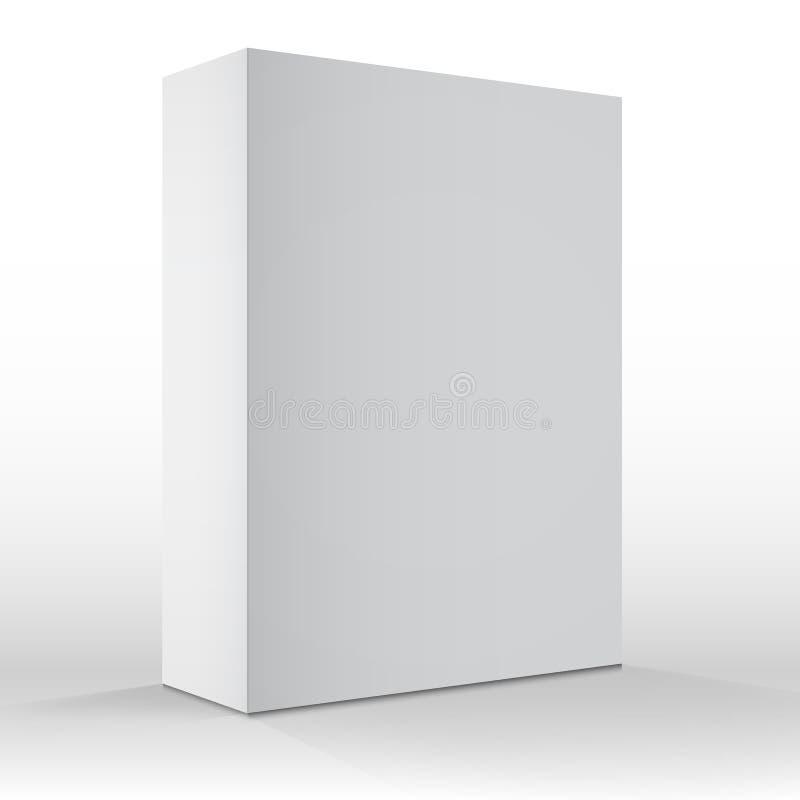 Realistisch Vector Leeg Wit Verpakkend Doosmalplaatje voor cellphon royalty-vrije illustratie