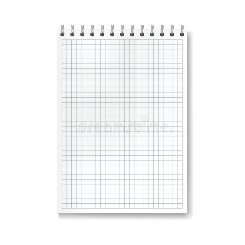 Realistisch vectorwiskunde beslist notitieboekje stock illustratie