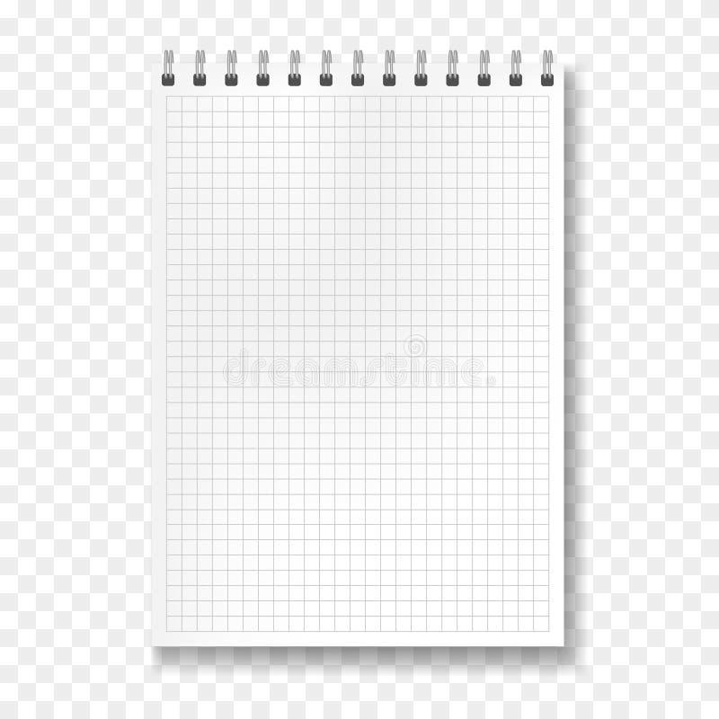 Realistisch vectorwiskunde beslist notitieboekjemodel royalty-vrije illustratie