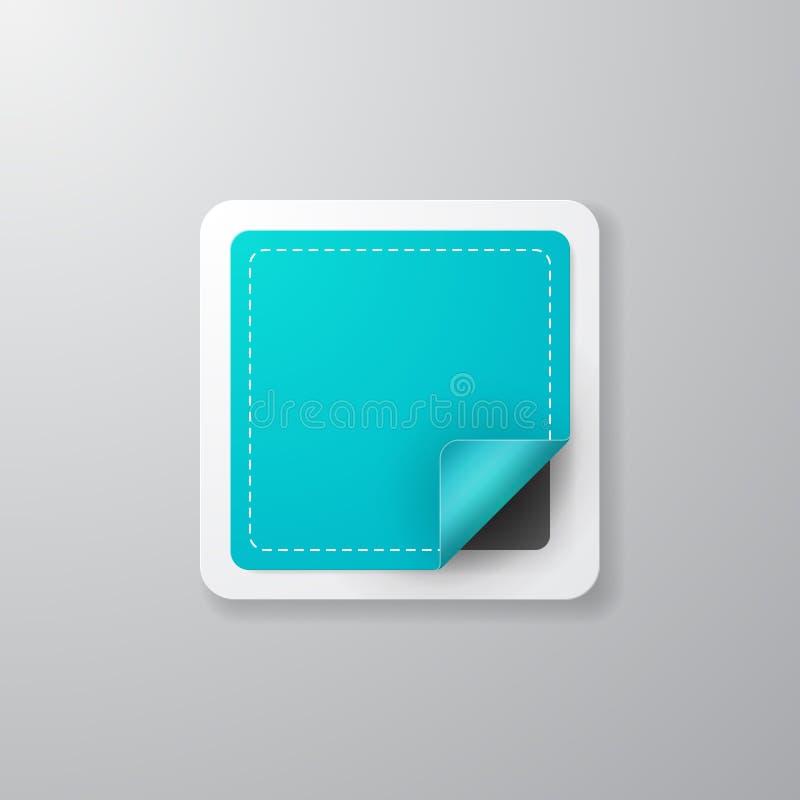 Realistisch vierkant etiket vector illustratie