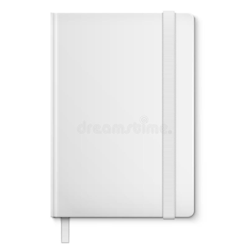 Realistisch Wit Leeg Notitieboekje met referentie. stock illustratie