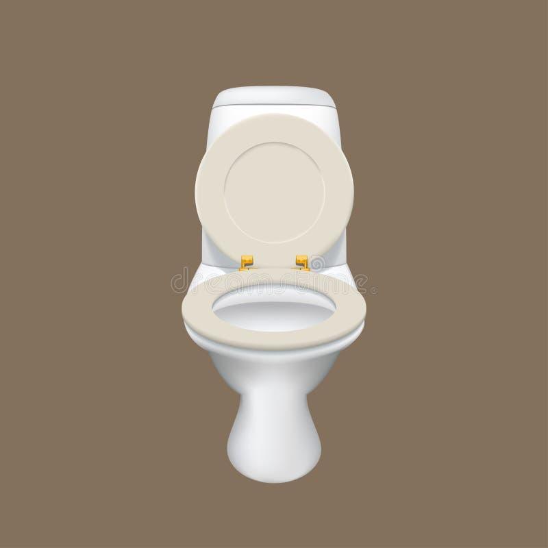 Realistisch wit toilet vector illustratie