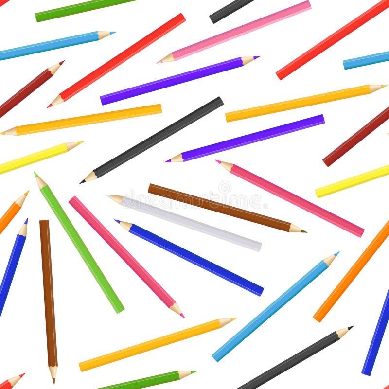 Realistische ausführliche gefärbte 3d zeichnen nahtlosen Muster-Hintergrund an Vektor stock abbildung